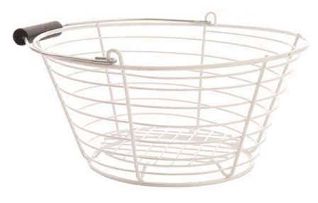 Rotomaid 200 white plastic coated basket